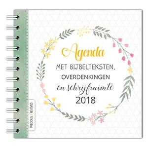 Agenda 2018 met bijbelteksten, overdenkingen en schrijfruimte