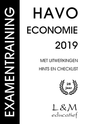 Examentraining Havo Economie - 2019