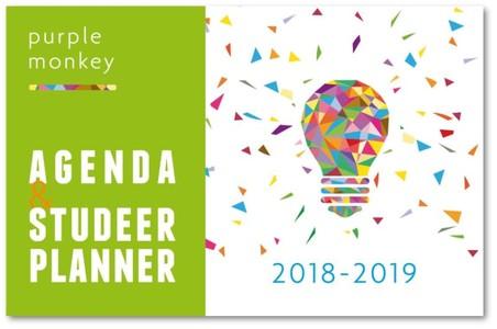 Purple Monkey Agenda en Studeerplanner - 2018-2019