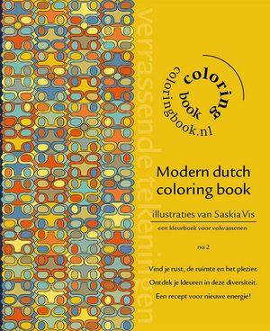 Modern dutch coloring book