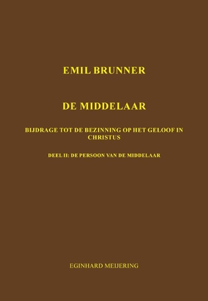 Emil Brunner De Middelaar - 2
