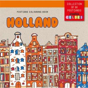 Postcard colouring book Holland
