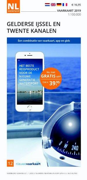 Vaarkaart Gelderse IJssel en Twente Kanalen 2019