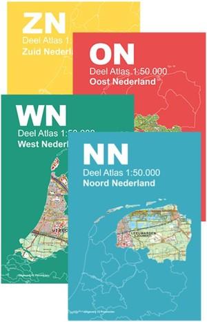 Topografische Atlas Nederland 1:50.000 set
