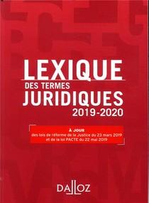 Lexique Des Termes Juridiques (edition 2019/2020)