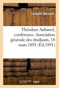 Theodore Aubanel, Conference. Association Generale Des Etudiants, 18 Mars 1891