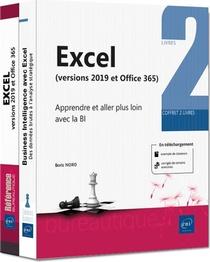 Excel 2019 ; Coffret De 2 Livres : Apprendre Et Aller Plus Loin Avec La Bi