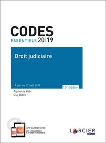 Codes Essentiels ; Droit Judiciaire (edition 2019)