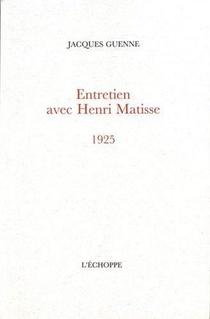 Entretien Avec Henri Matisse 1925