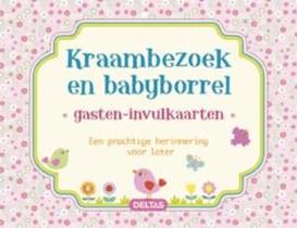Kraambezoek en babyborrel gasten-invulkaarten