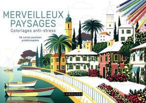 Merveilleux Paysages Coloriages Anti-stress : 36 Cartes Postales Predecoupees