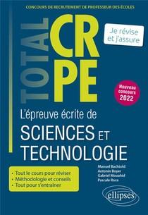Reussir L Epreuve Ecrite De Sciences Et Technologie - Crpe - Nouveau Concours 2022