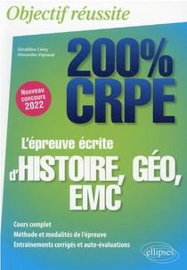 L'epreuve Ecrite D'histoire, Geographie, Emc : Nouveau Concours 2022