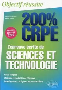 L'epreuve Ecrite De Sciences Et Technologie : Nouveau Concours 2022