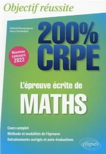L'epreuve Ecrite De Maths : Nouveau Concours 2022