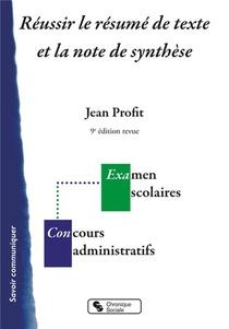Reussir Le Resume De Texte Et La Note De Synthese