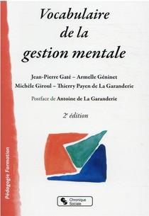 Vocabulaire De La Gestion Mentale (2e Edition)