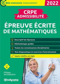 Epreuve Ecrite De Mathematiques : Crpe Admissibilite