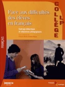 Face Aux Difficultes Des Eleves En Francais ; Livre De L'enseignant