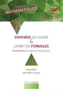 Mathematiques ; Synthese De Cours & Livret De Formules ; Terminale Es, Enseignement Specifique