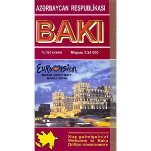 Baku/baki Street City Map 1:24d