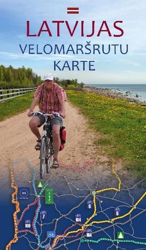 Fietskaart Letland Velomarsrutu Karte