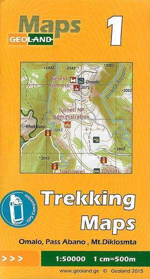 01 Omalo, Pass Abano, Mt. Diklosmta Trekking Map