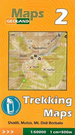 02 Shatili, Mutso, Mt. Didi Borbalo Trekking Map