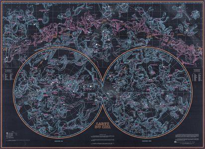 Ciel hemispheres plano geplastificeerd