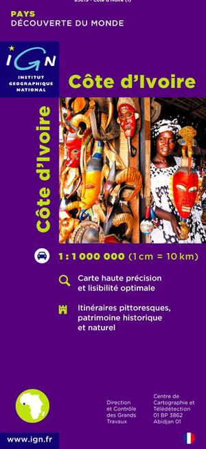 Cote Ivoire Ign Map Ivoorkust 1:1m