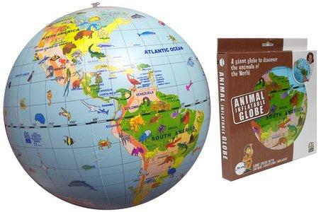 Inflatable globe 50 animals maxi globe