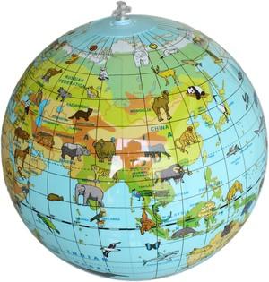 Inflatable globe 30 animals