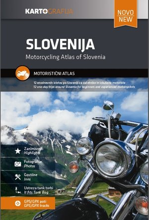 Slovenië Motorcycle atlas - 12 one-day trips