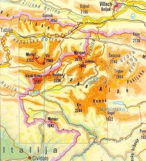 Pzs05 Julijske Alpe 1:50.000