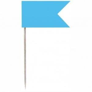 Vlaggenspelden Lichtblauw 20st Alco 714