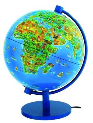 Globe 28 dino monde + enc. monde illustré