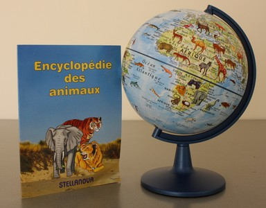 Globe enfant 15 + index des animaux