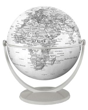 Globe 15 cm pol. gris tournant & basculant