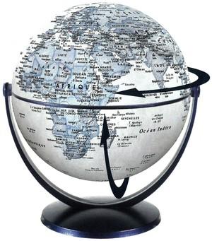 Globe 15 cm pol. bleu tournant & basculant