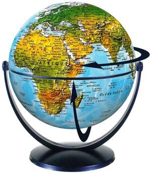 Globe 15 cm phys. tournant & basculant