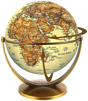 Globe 15 cm antique tournant & basculant