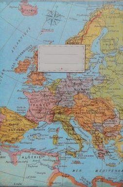 Europa schrift met lijntjes 15 x 21cm