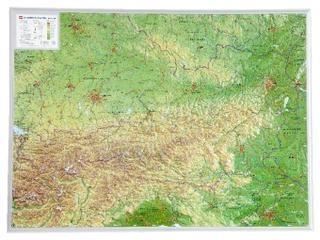 Osterreich Georelief 1:800d
