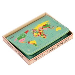 Kaarthouder vintage world map