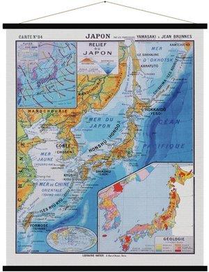 Japon vintage wandkaart
