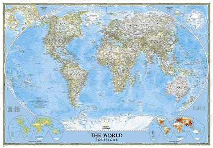 Wereld politiek groot geplastificeerd met houten stokken