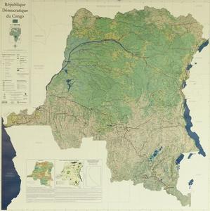 Congo Democratische Republiek fys. plano