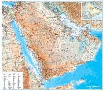 Saoedi-Arabië geogr. plano