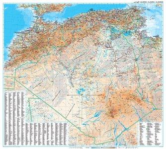 Algerije geogr. plano