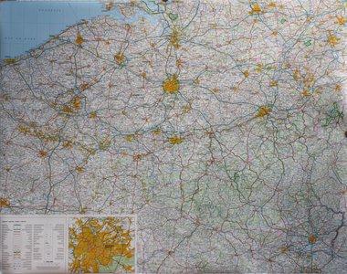België / Gr.H. Luxemburg plano geplastificeerd